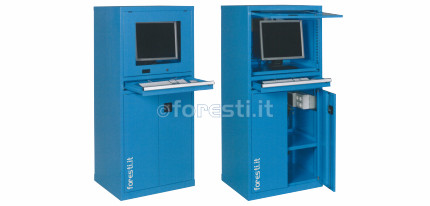Mobile Porta Computer In Metallo.Armadio Porta Computer Versione Monoblocco