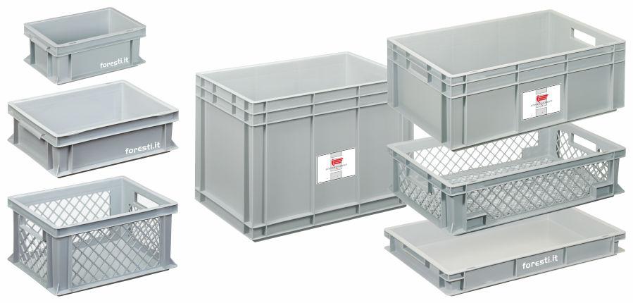 Cassette in plastica modulari standard euro pallet for Contenitori per esterni in plastica