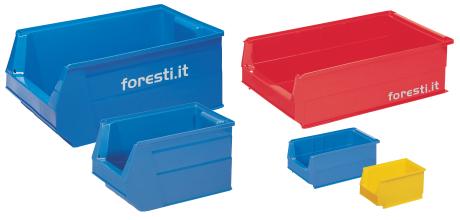 contenitori in plastica accessoriabili - serie sb a bocca di lupo