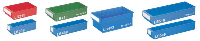 Contenitori in plastica per scaffali serie lb for Contenitori in pvc per esterni