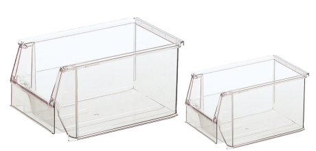 Contenitori a bocca di lupo in plastica trasparente for Contenitori per esterni in plastica