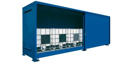 Container per cisternette versione a singolo livello for Planimetrie domestiche di livello singolo
